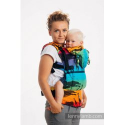 LennyLamb LennyGo ergonomic carrier Rainbow Safari 2.0