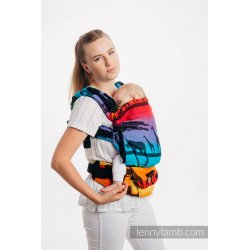 LennyLamb LennyUpGrade adjustable ergonomic carrier - Rainbow Safari 2.0