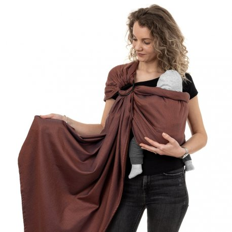 Fidella ring sling Diamonds - rustred