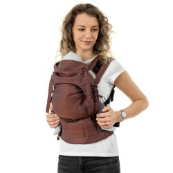 Fidella Fusion babycarrier with buckles - Diamonds - rustred
