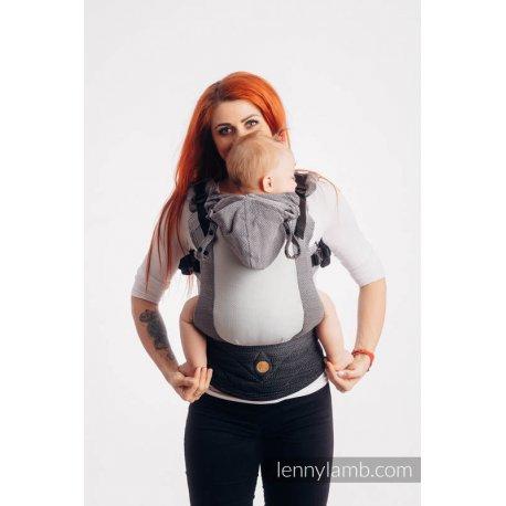 LennyLamb LennyGo Mesh ergonomic carrier Little Herringbone Ombre Grey