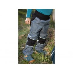 Loktu She - kids softshells trousers - bluegrey