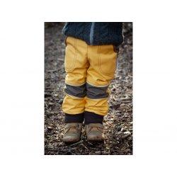 Loktu She - kids softshells trousers - yellow