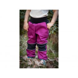 Loktu She - kids softshells trousers - raspberry