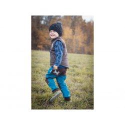 Loktu She - kids softshells trousers - petrol