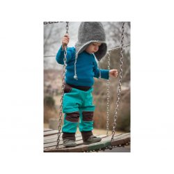 Loktu She - kids softshells trousers - turquoise