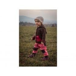 Loktu She - kids softshells trousers - salmon