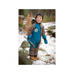 Loktu She Children growing Softshell jumpsuit - petrol