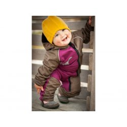 Loktu She Children growing Softshell jumpsuit - raspberry