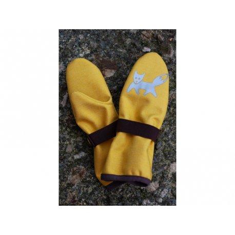 Loktu She Children Softshell gloves - yellow