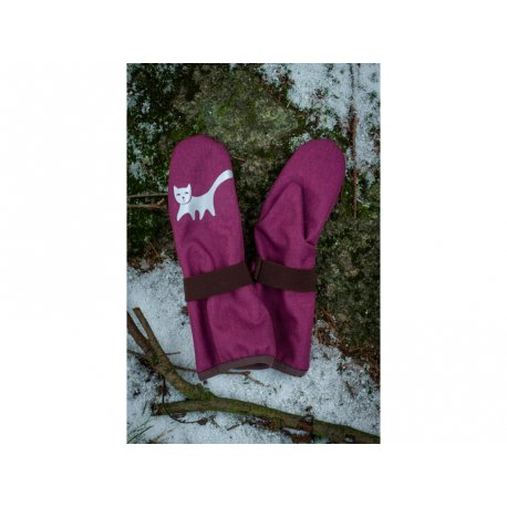 Loktu She Children Softshell gloves - raspberry
