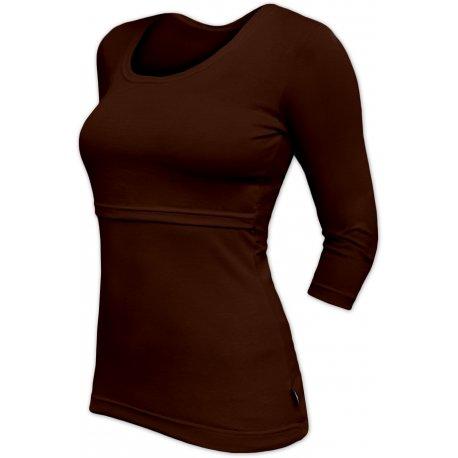 Jozanek Breastfeeding T-shirt Catherine 3/4 sleeves - brown