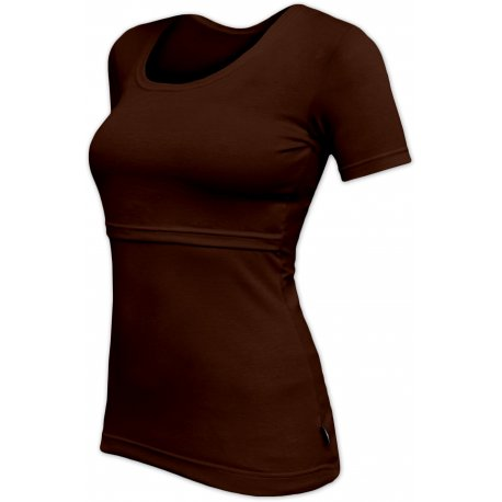 Jozanek Breastfeeding T-shirt Catherine short sleeved - chocolate
