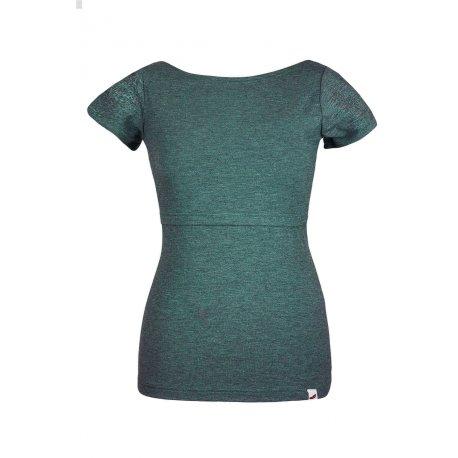 Angel Wings T-shirt for breastfeeding petrol