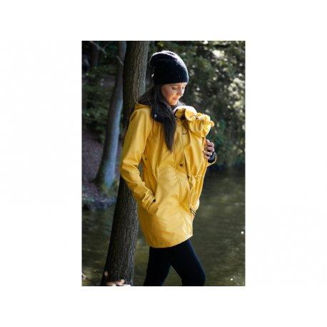 Loktu She babywearing coat - yellow melange 2020/21