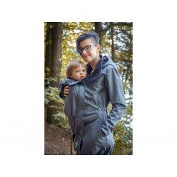 Loktu She babywearing coat - blue-grey melange 2020/21