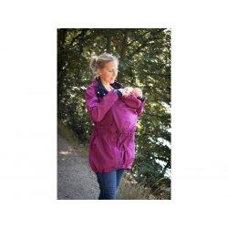 Loktu She babywearing coat - raspberry melange 2020/21