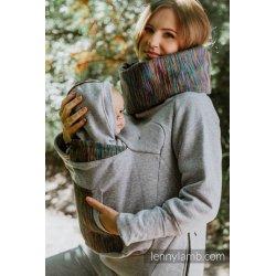 LennyLamb Babywearing Sweatshirt 3.0 - Grey Melange with Colorful Wind