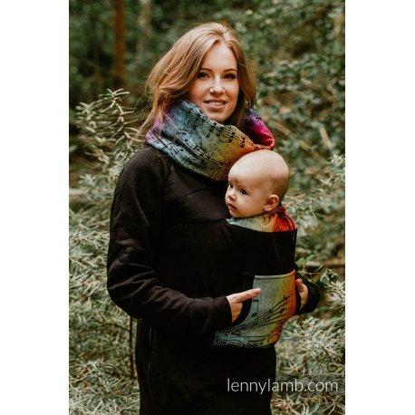 LennyLamb Babywearing Sweatshirt 3.0 - Black with Symphony Rainbow Dark