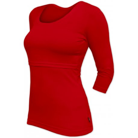 Jozanek Breastfeeding T-shirt Catherine 3/4 sleeves - red