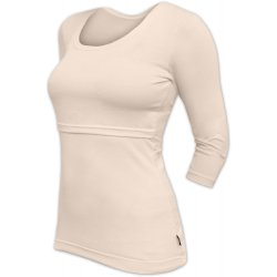Jozanek Breastfeeding T-shirt Catherine 3/4 sleeves - caffe latte