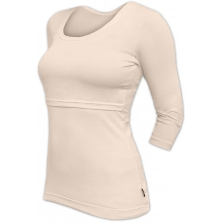Jozanek Breastfeeding T-shirt Catherine 3/4 sleeves - caffe latte
