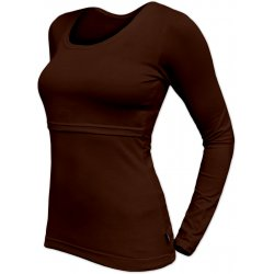 Jozanek Breastfeeding T-shirt Catherine long sleeved - chocolate