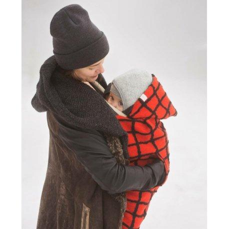 Nije babywearing cover Woolen Niječko - Red Checker