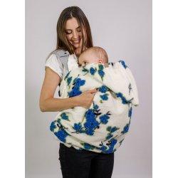 Nije babywearing cover Woolen Niječko - Flowry Blue