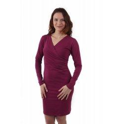 Jozanek Breastfeeding Dress - long sleeves - Amalia - Cyclamen