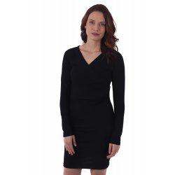Jozanek Breastfeeding Dress - long sleeves - Amalia - Black