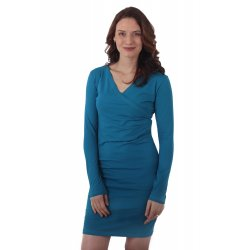 Jozanek Breastfeeding Dress - long sleeves - Amalia - Petrol