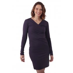 Jozanek Breastfeeding Dress - long sleeves - Amalia - Plum