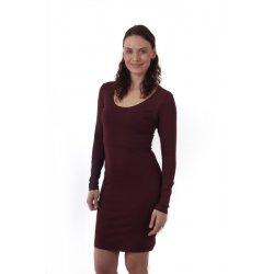 Jozanek Breastfeeding Dress - long sleeves - Elena - bordeaux
