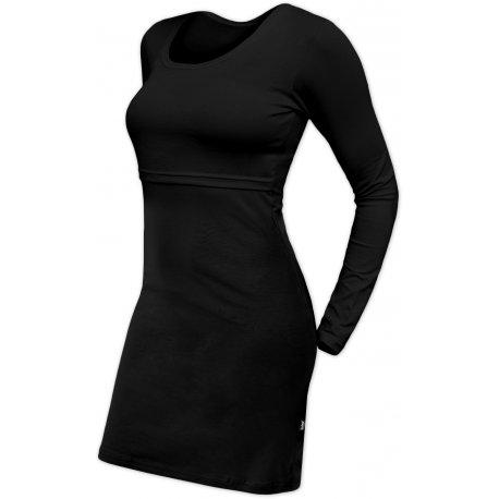 Jozanek Breastfeeding Dress - long sleeves - Elena - black