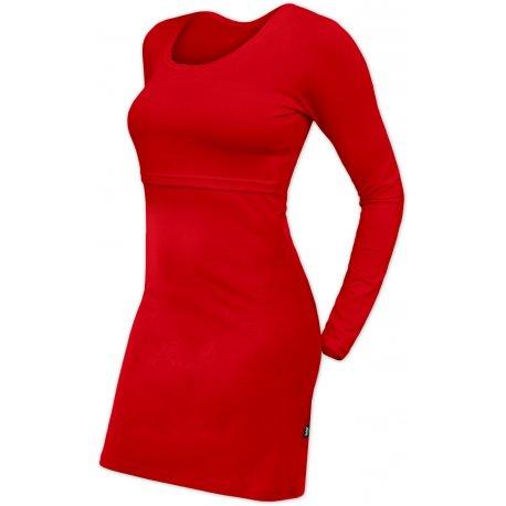 Jozanek Breastfeeding Dress - long sleeves - Elena - red