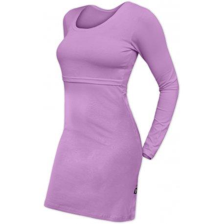Jozanek Breastfeeding Dress - long sleeves - Elena - lavender