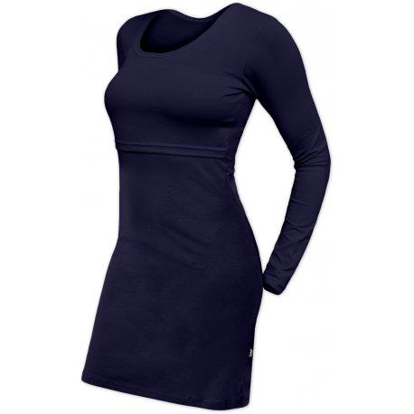 Jozanek Breastfeeding Dress - long sleeves - Elena - navy