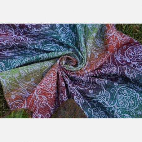 Yaro Ring Sling Elvish Trinity Tawny Rainbow Wool