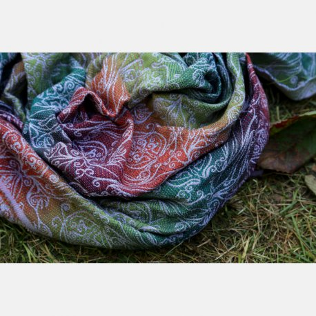 Yaro Elvish Trinity Tawny Rainbow Wool Scarf
