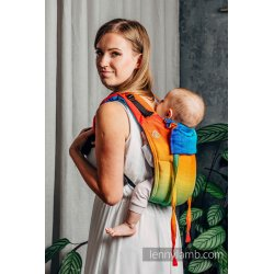 LennyLamb Onbuhimo back carrier - Rainbow Baby