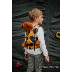 LennyLamb Doll Carrier Lovka Mustard & Navy Blue