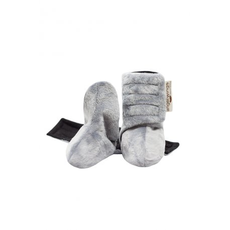 Angel Wings Fluffy Shoes - grey-black
