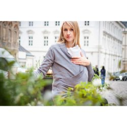 Loktu She babywearing sweater - grey 2020/2021