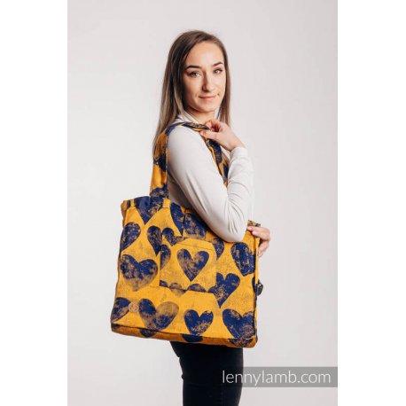 LennyLamb Shoulder Bag - Lovka Mustard & Navy Blue