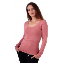Jozanek Breastfeeding T-shirt Catherine long sleeved - old rose