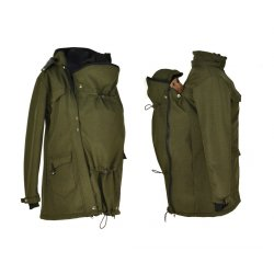 Shara babywearing coat - spring/autumn - khaki
