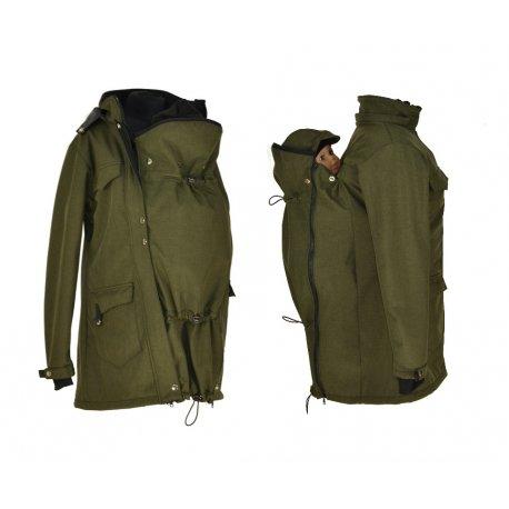 Shara babywearing coat - spring/autumn - khaki