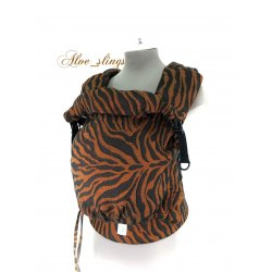 Aloe babycarrier - TWO - Yaro Tiger Black Orange