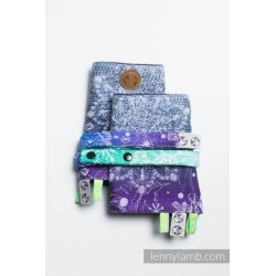 LennyLamb Drool Pads and Reach Straps Set Snow Queen - Crystal